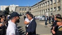 Christophe Castaner passe en revue les effectifs du commissariat de Lorient