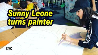 Sunny Leone turns painter