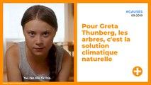 Pour Greta Thunberg, les arbres, c'est la solution climatique naturelle