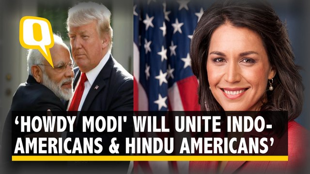 I'm very happy to see that Howdy Modi is bringing together Indian Americans and Hindu Americans: Gabbard