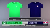 Match Preview: Werder Bremen vs RB Leipzig on 21/09/2019