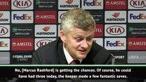 Solskjaer not worried by Rashford's goal drought