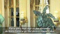 Le coq de la flèche de Notre-Dame exposé à Paris