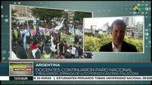 Argentina: paro y jornada de duelo por muerte de docentes en Chubut