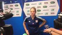 Entretien avec l'attaquante de Lyon, Eugénie Le Sommer avant le Trophée des Championnes