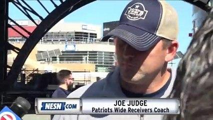 Patriots Wide Receivers Coach Joe Judge On Antonio Brown
