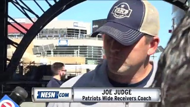 Patriots Wide Receivers Coach Joe Judge On Antonio Brown