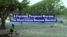6 Current Tropical Storms Tie Hurricane Season Record