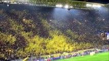 Les supporters du Borussia Dortmund font un tifo incroyable avec des confettis