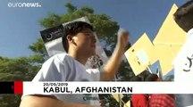 Mit Panzer und Geleitschutz: Klimaproteste in Kabul