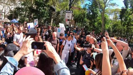 New York City's Climate Strike features massive crowds, the mayor and Greta Thunberg gather during