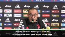 Ronaldo is judged by completely different standards- Sarri