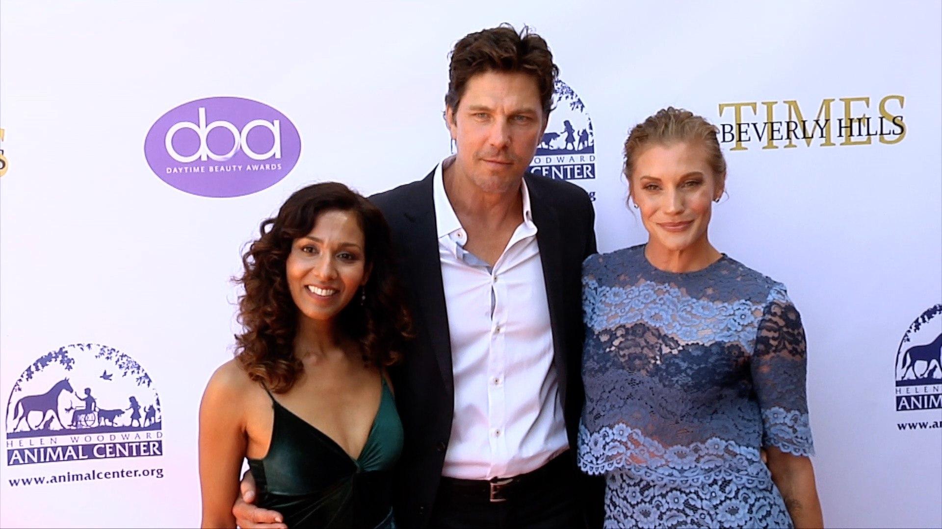 Rekha Sharma, Michael Trucco, Katee Sackhoff 2019 Daytime Beauty Awards Red Carpet