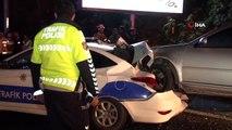 Kaza yerine gelen polis aracına başka bir otomobil çarptı