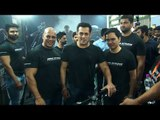 Salman Khan Spotted at the Fitness Challenge held by BeingHuman