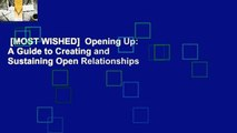 [MOST WISHED]  Opening Up: A Guide to Creating and Sustaining Open Relationships
