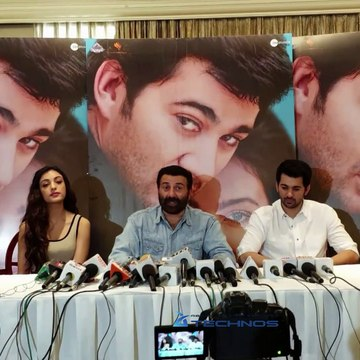 Press Conference Of Sunny Deol For The Film Pal Pal Dil Ke Paas With Karan Deol ,Sahher Bambba