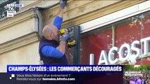 Sur les Champs-Élysées, les commerçants se barricadent