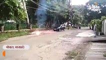 अरेरा कॉलोनी में गिरा बिजली का तार, नीचे खड़ी कार जली