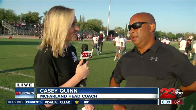 Live interview with McFarland Head Coach Casey Quinn ahead of Game of the Week