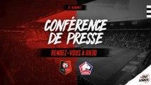 J6. Stade Rennais F.C. / Lille : conférence de presse en direct