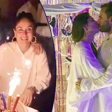 Kareena And Saif CAPTURED KISSING At Pataudi Palace