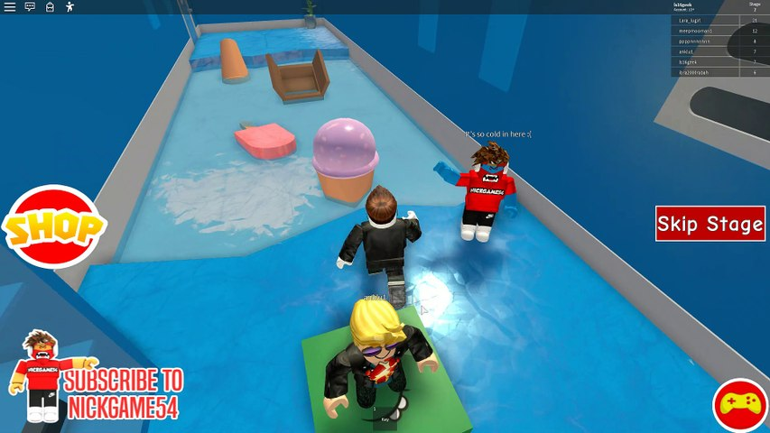 Escape The Ice Cream Parlour Obby Redone Roblox Escape The Ice Cream Shop Obby Nickgames54 Fan Group Roblox 2215807572 Video Dailymotion