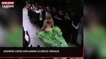 Jennifer Lopez enflamme le défilé Versace avec une robe emblématique (Vidéo)