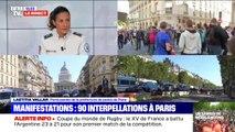 """Selon la porte-parole de la préfecture de police de Paris, """"la stratégie des forces de l'ordre porte ses fruits"""""""