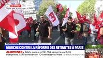 Le cortège de manifestants contre la réforme des retraites vient de partir du XVe arrondissement de Paris