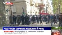 Dans le quartier des Champs-Élysées, des manifestants au contact des forces de l'ordre