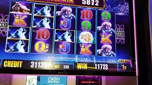 Timber Wolf Deluxe Slots $5.00 Bet On Timber Wolf Slot Machines Gaming On Bonus Play Live