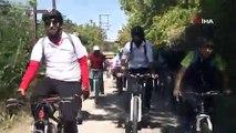 'Avrupa Hareketlilik Haftası' etkinlikleri sürüyor: 500 bisikletli, 3000 yıllık tarihi yolda bisiklet sürdü