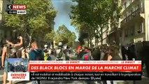 Regardez les images des violences qui se sont déroulées peu après 15h quand des Black Blocs sont entrés au sein de la manifestation pour le climat