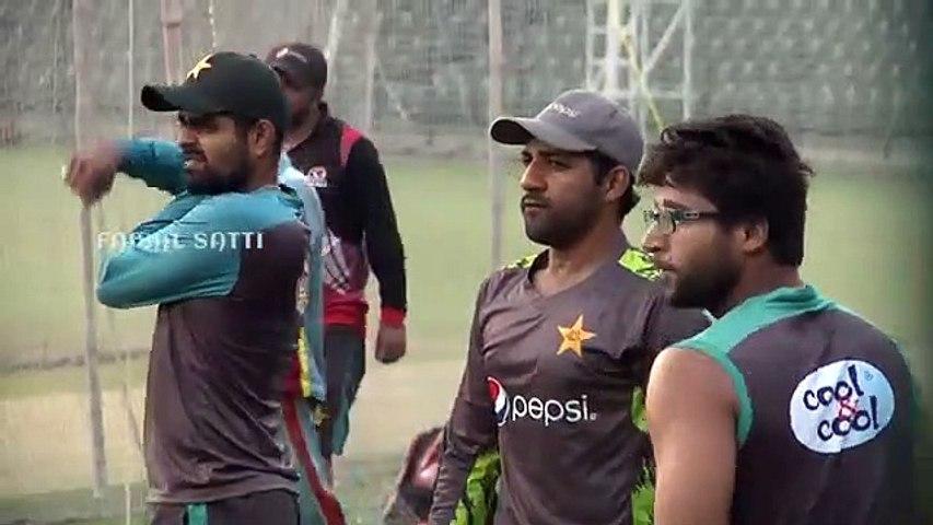 Pakistan Cricket team training session at Gaddafi Stadium in Lahore on  live