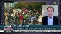 EEUU: jóvenes exigen atender causas y efectos del cambio climático