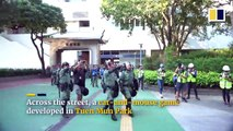 Petrol bombs and tear gas in tense stand-off in Tuen Mun, Hong Kong