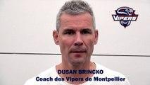 Hockey sur glace Interview de Dusan Brincko 2019-08-31 Coach des Vipers de Montpellier,