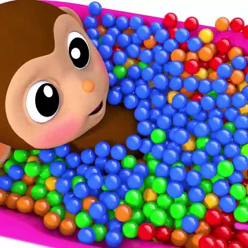 Learn Colors with Baby Monkey Bath Time Finger Song for Kid Children