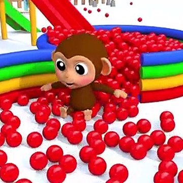 Learn Colors Baby Monkey and Ball Finger Family Song Nursery Rhymes for Kid Children