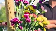 """""""Flores de resistencia"""" en la inauguración de jardín Marielle Franco en París"""