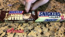 Canadian trying American snacks : Snickers White and Snickers Almond Butter