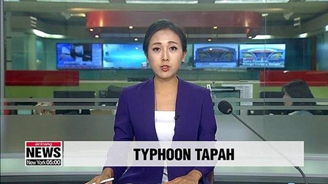 Typhoon Tapah heading now towards Busan