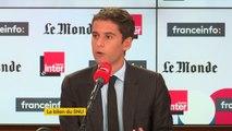 """Gabriel Attal : """"Je suis élu local à Vanves (Hauts-de-Seine) et j'entend le rester. Je ne serai pas tête de liste mais candidat sur la liste."""""""