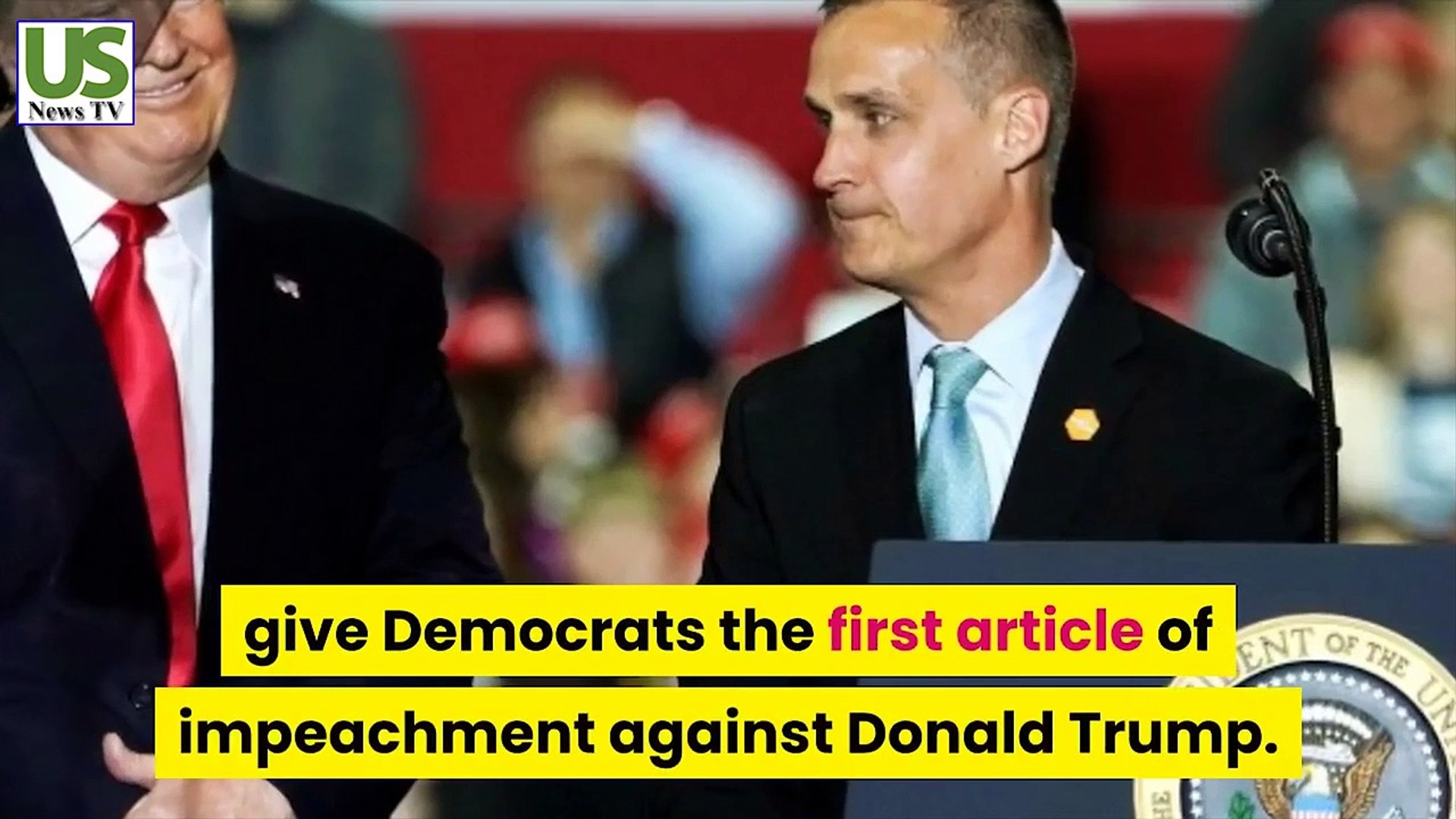 The GOP said Corey Lewandowski had just come up with the first clause of impeachment against Trump