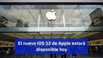El nuevo iOS 13 de Apple estará disponible hoy