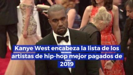 Kanye West encabeza la lista de los artistas de hip hop mejor pagados de 2019