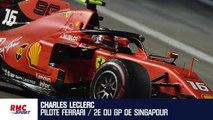 Formule 1 : la frustration de Leclerc, deuxième derrière Vettel à Singapour
