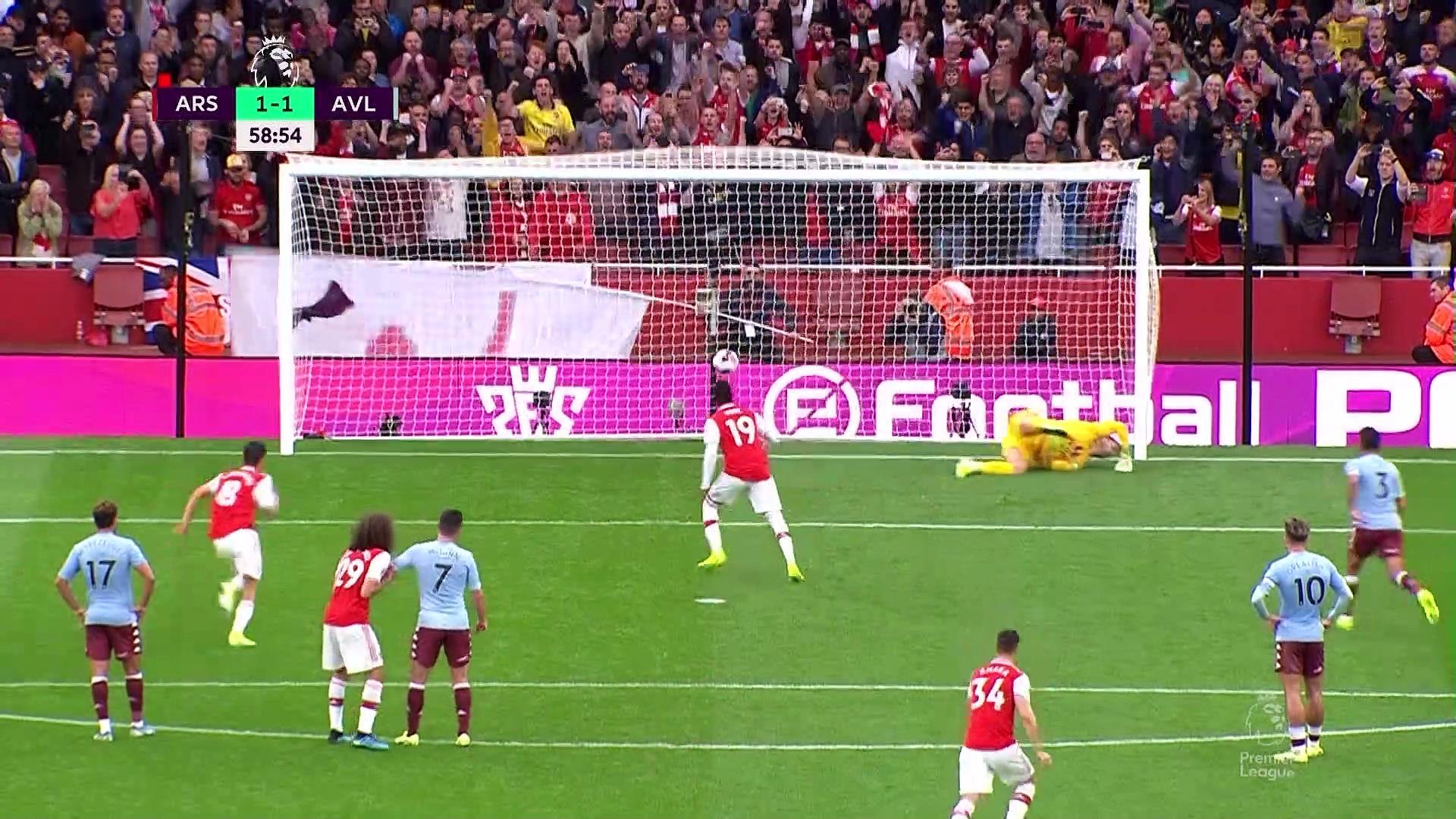 6. Hafta / Arsenal - Aston Villa 3-2 (Özet)
