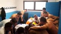 Football : les joueurs de l'ES Avière fêtent leur succès devant le BCV